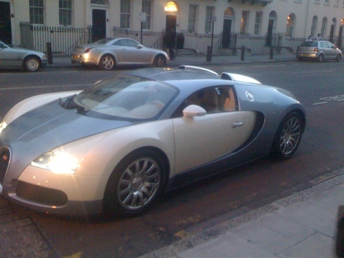 some guys have all the luck and some just have a Bugatti Veyron :