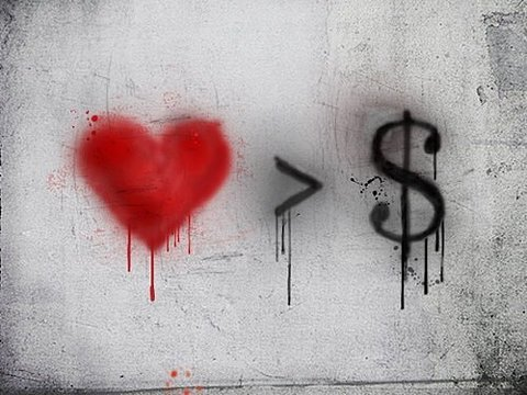 love is Greater than money.