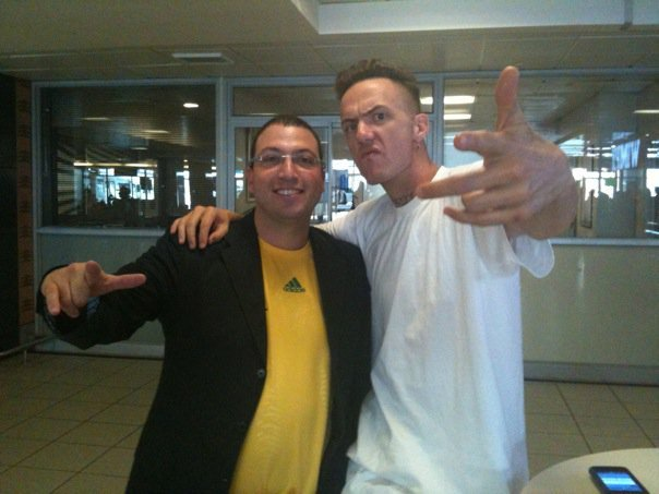 Classic. Gavin and Die Antwoord. happy birthday Ninja!
