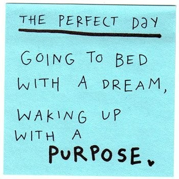 woken up with a purpose: