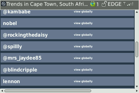 I'm a trend topic in Cape Town #TT #Twitter