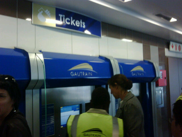 real Gautrain pictures. a blog.