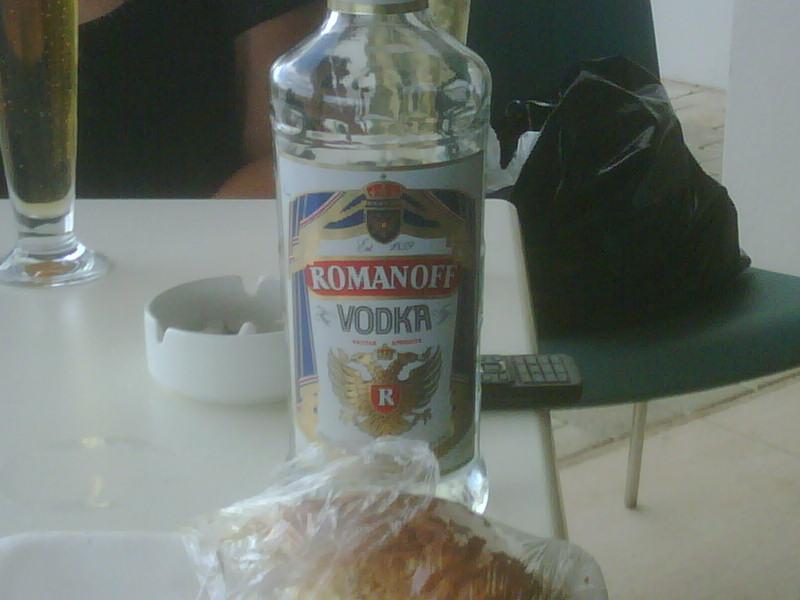 Likey likey free dodgy local vodka! Romanoff who…?