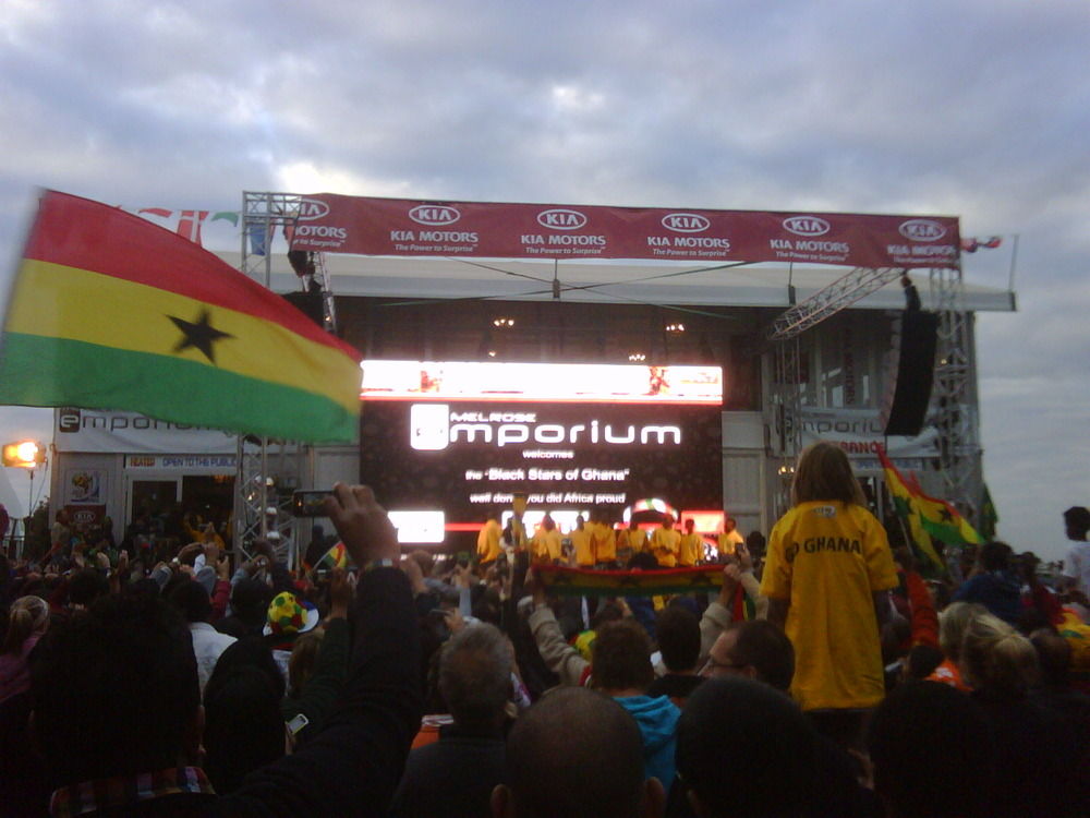 The Black Stars in Melrose Arch. Go GHANA. You made me cry!
