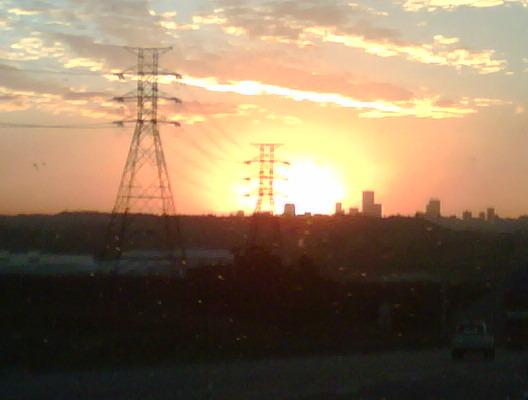 Sunset making the traffic more bearable! Preeeti!