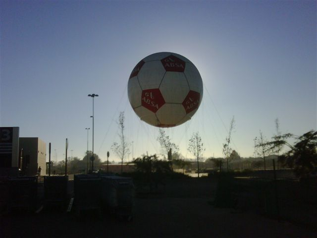 the ABSA ball balloon thingie @ Maponya mall at sunrise.