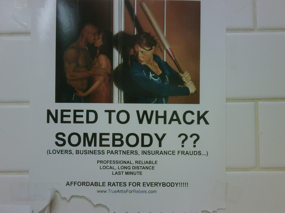 """Wanna """"whack"""" some one at a reasonable rate!"""
