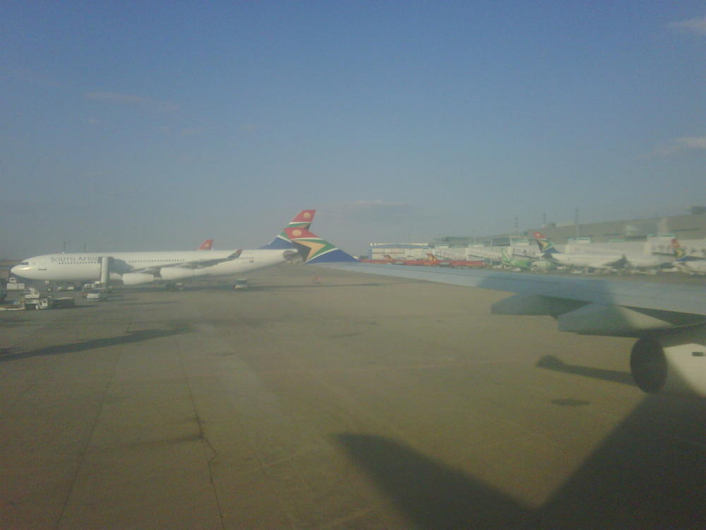 Arrived safely back @ OR Tambo. Please turn up the heat!