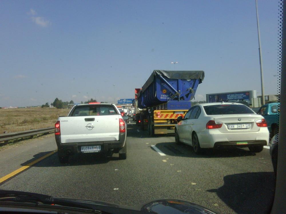Love sitting in traffic. Grrrrrr…..!!!!