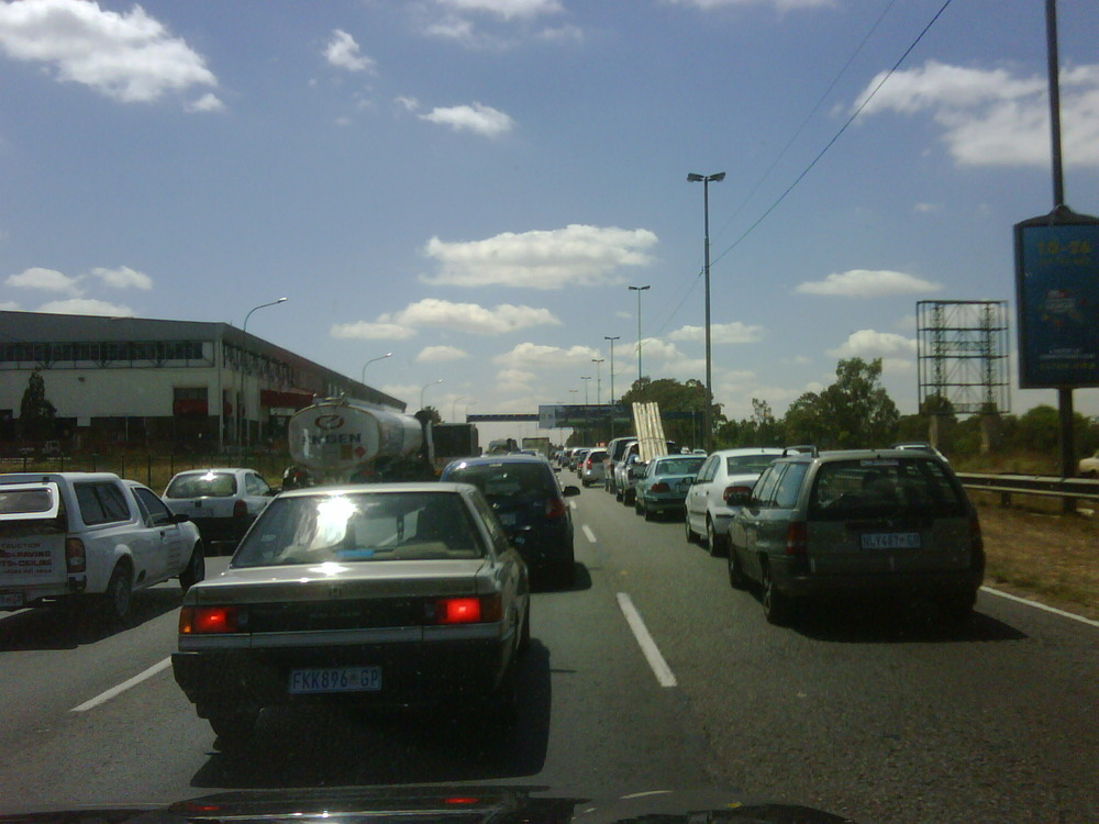 Proud of Jozi traffic on a Saturday morning. Its a sign of LIFE.