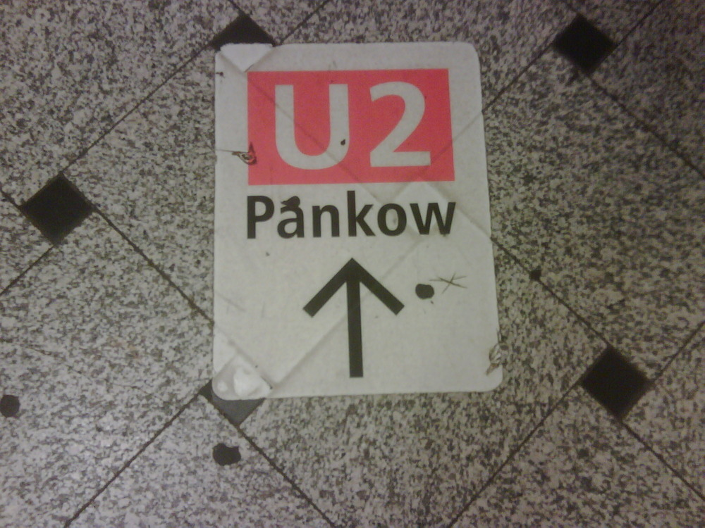 Rather fitting for today's U2 concert. Berlin.