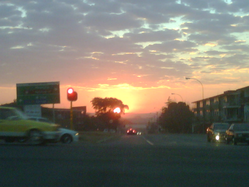 sunrise over Dinwiddie! dis mooi ne!