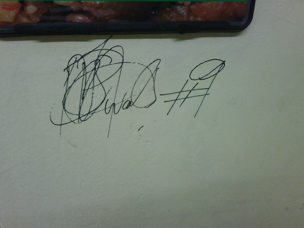 Banyana Banyana #9 just autographed my office wall.
