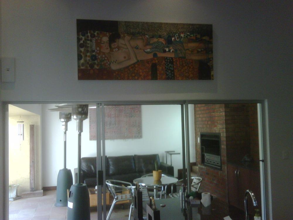 Mother and baby Klimt in my kitchen! Thanks Drew!!!!