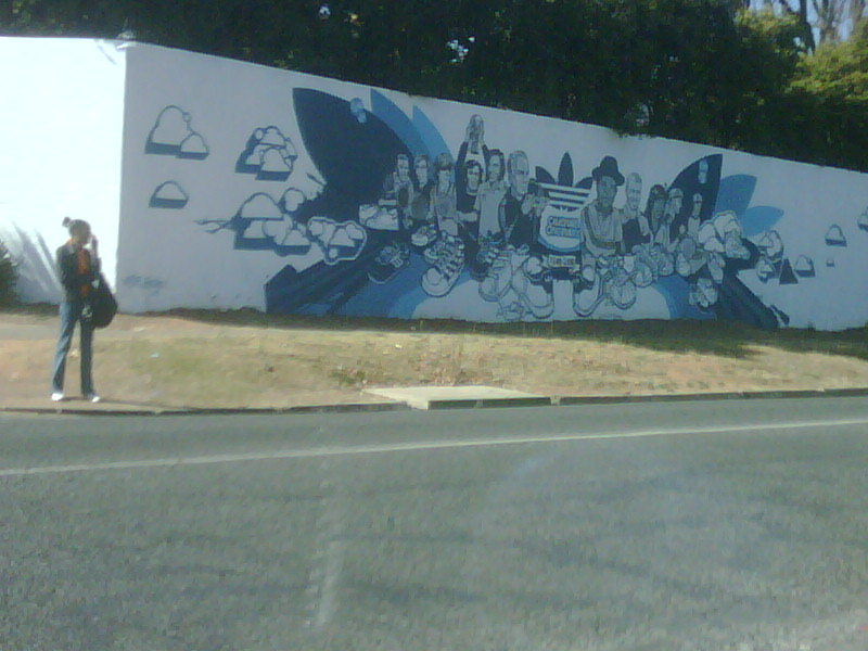 do Addidas think that celebrity graffiti in my neighbourhood is OK? cause its cool somehow? it NOT!