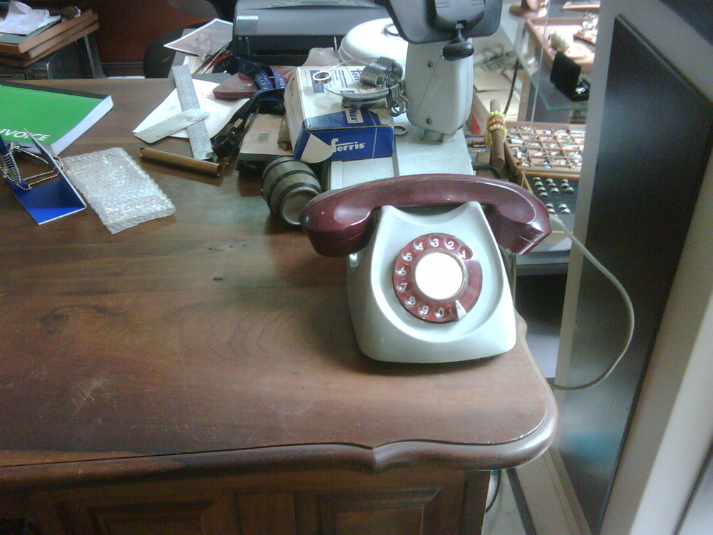 Yes kids. This is what a telephone actually looks like. (If You were born in the 80's)