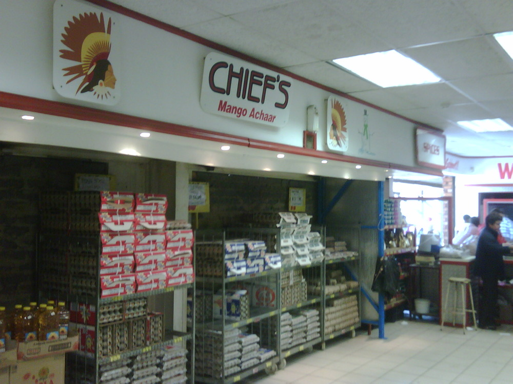Homemade CHIEFS ACHAAR signage in the townships! Gotta love the initiative.