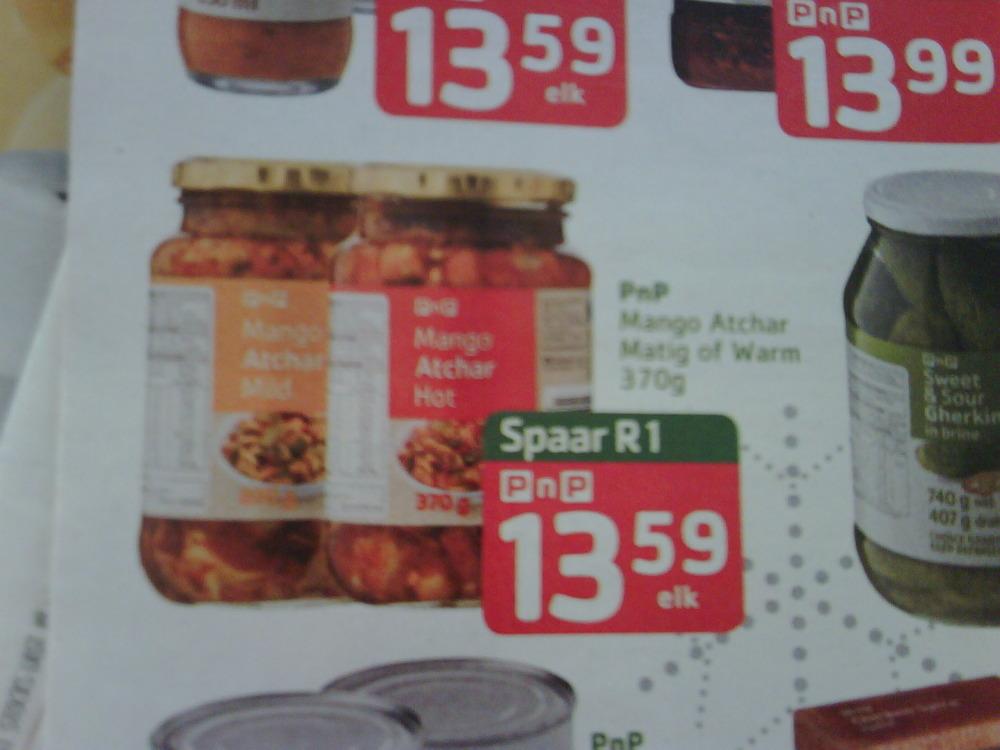 My 1st Pick n Pay advert (in afrikaans!) Mooi ne?