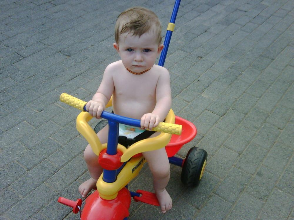 Being brave on my new three wheel trike!