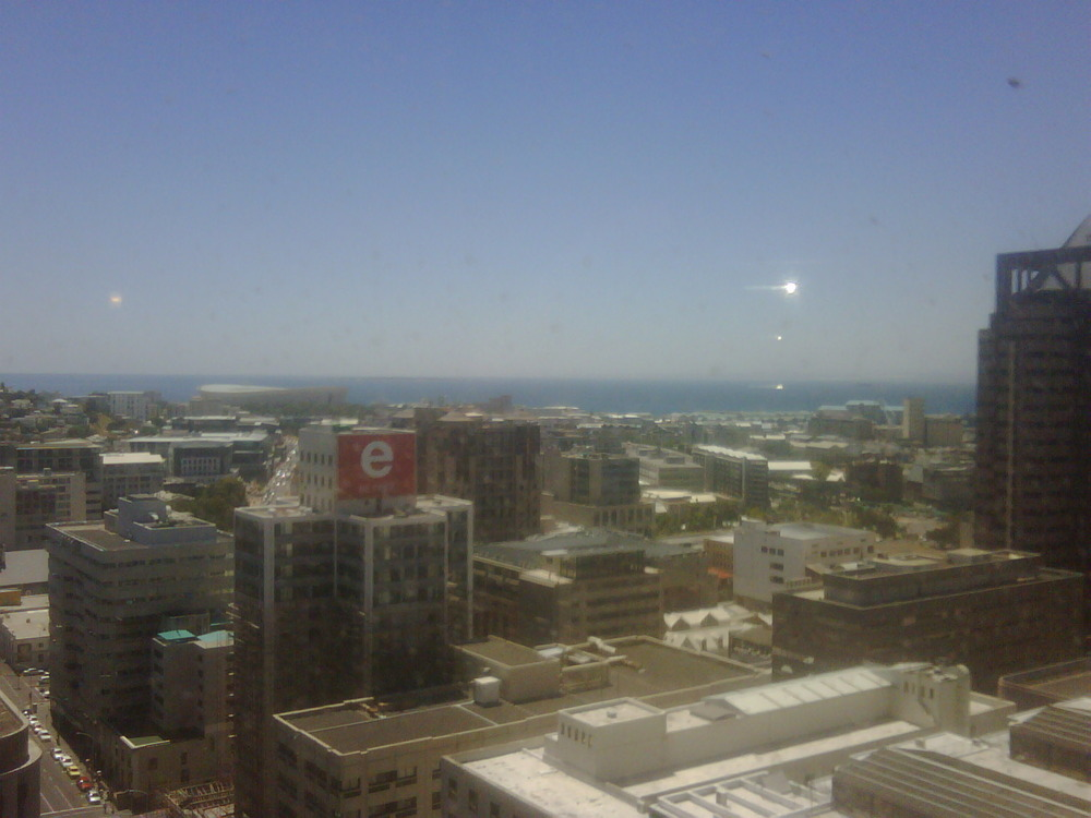 24 stories up, luckily I'm not scared of heights. Oh wait!… I AM!
