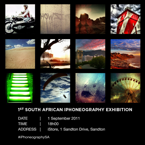 the i-Phoneography invite. All are welcome 1 Sept 2011 – Jozi.