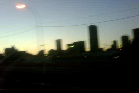 Jo'burg city at 120km/h at dusk…