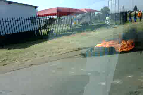 So they still burn tires when they strike and yet there are 100 odd people looking for work @ my gate EVERY morning!