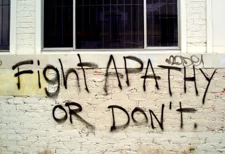 Apathetic :