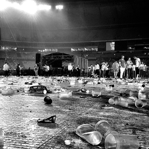 Where there were once Kings, there is now trash. The aftermath #KOL #joburg