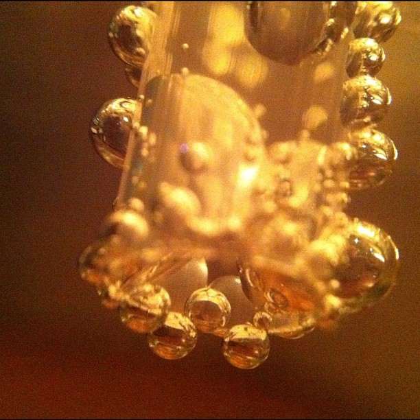 A macro image of bubbles on a straw taken with iPhone. #macro #olloclip