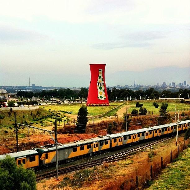 Train to soccer city. #train #kol #metro #joburg