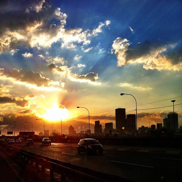 Another glorious sunset. #jozi you beauty