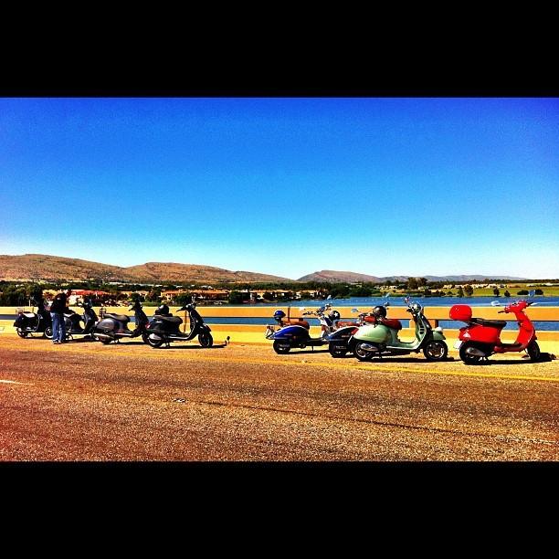 Third Sunday riders club on Hartees bridge. #vespa #scooter #love