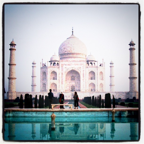 I wonder how Many photos identical to this have been taken? Millions? #india #Taj
