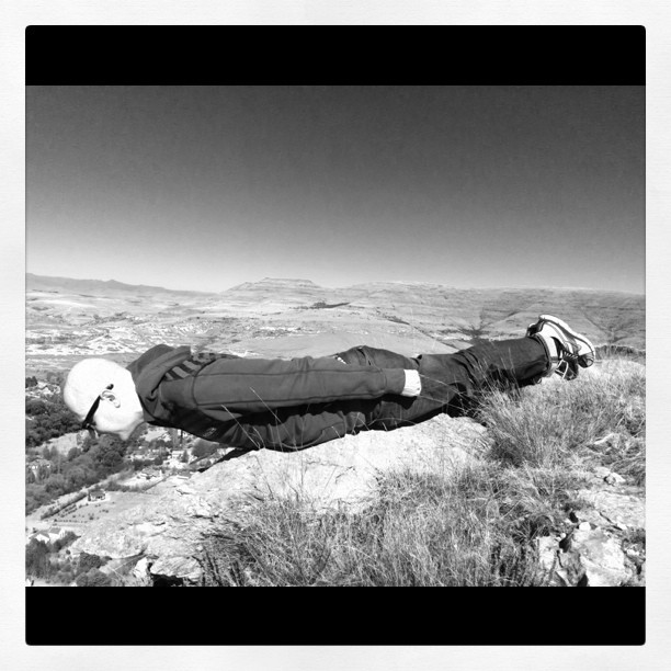 My turn. #planking 101 off a sheer rockface.