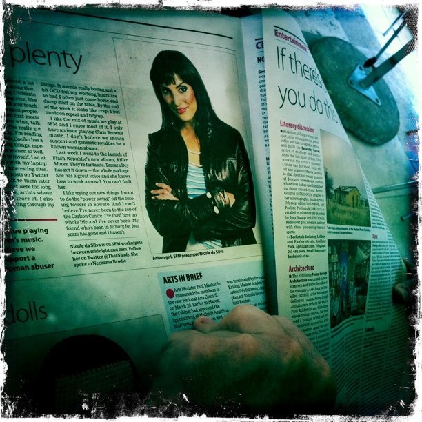Looki look it's @ThatNicole in the M&G newspaper