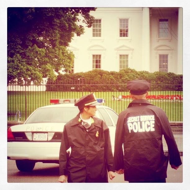 The (not-so) secret police at the white house. #Washington #Whitehouse
