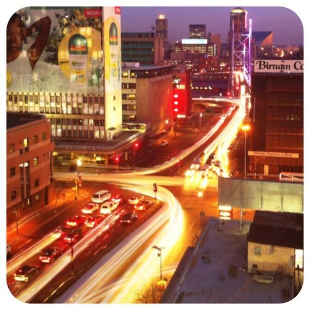 Traffic in Braamfontein at sunset. #ilovejozi #sunset #traffic