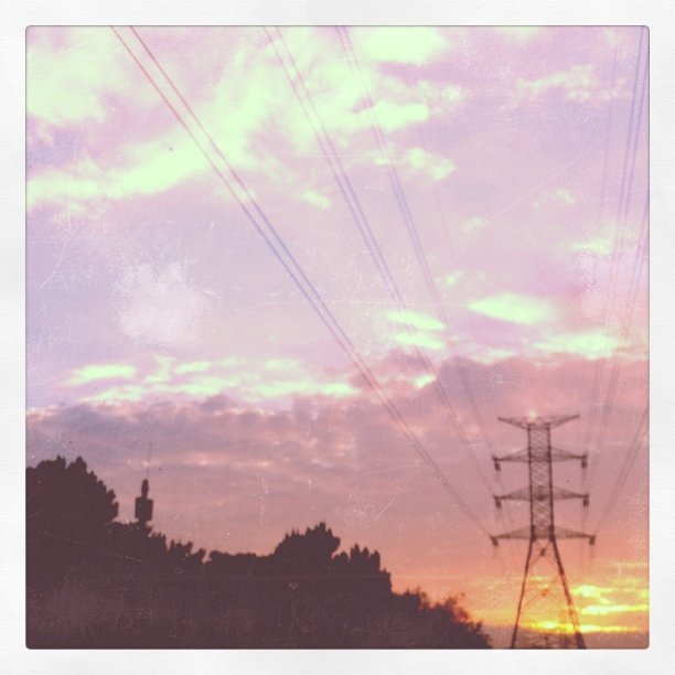 My powerlines and sunrise obsession continues.