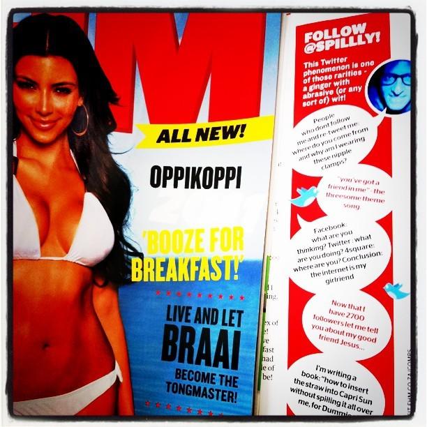 SHAMELESS SELF PROMOTION. I can see Kim Kardashians boobs. #FHM follow @spillly
