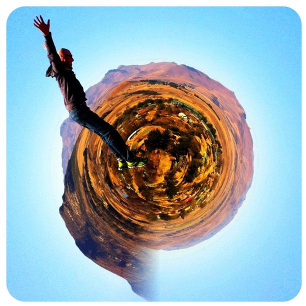 Jumping in Clarens. Remixed. Gotta love iPhone. #jumping #freestate #africa