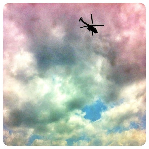 Fluffy pink clouds. #Pretoria #helicopter