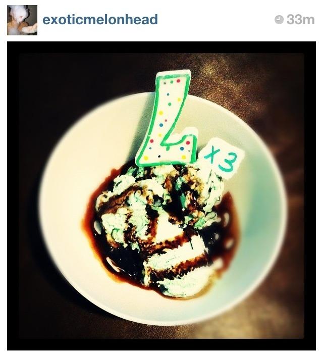 The best birthday wish and ice cream cake all day.