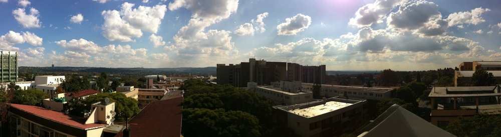 The view. Joburg we (heart) you.