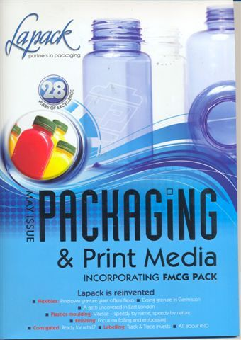 hey! thats our new bottle on the cover of Packaging & print mag!