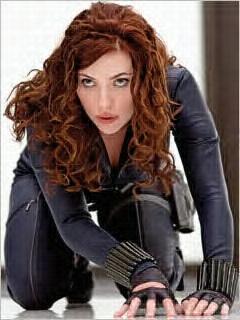Scarlett Johannsen in Iron man 2. Red head! THAT'S hot!