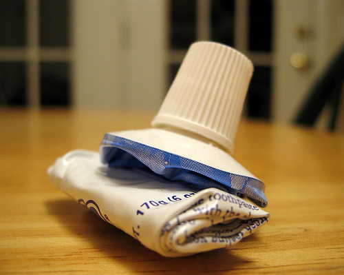 so I dont squeeze the toothpaste from the bottom – get over it!