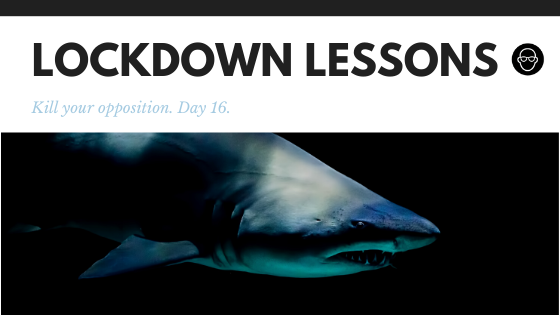 I'm thrilled about the Covid Lockdown extension  |   A sales strategy for fearless leaders with cash.